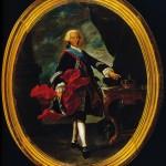 Retrato Carlos III con marco
